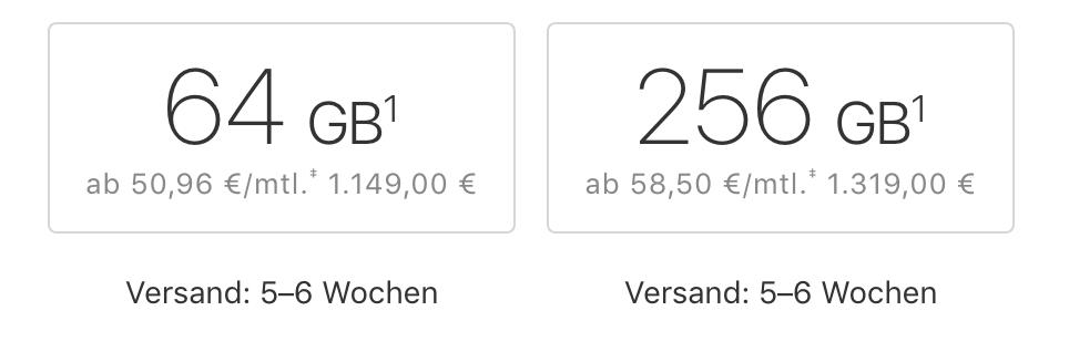 Phone X Lieferzeiten