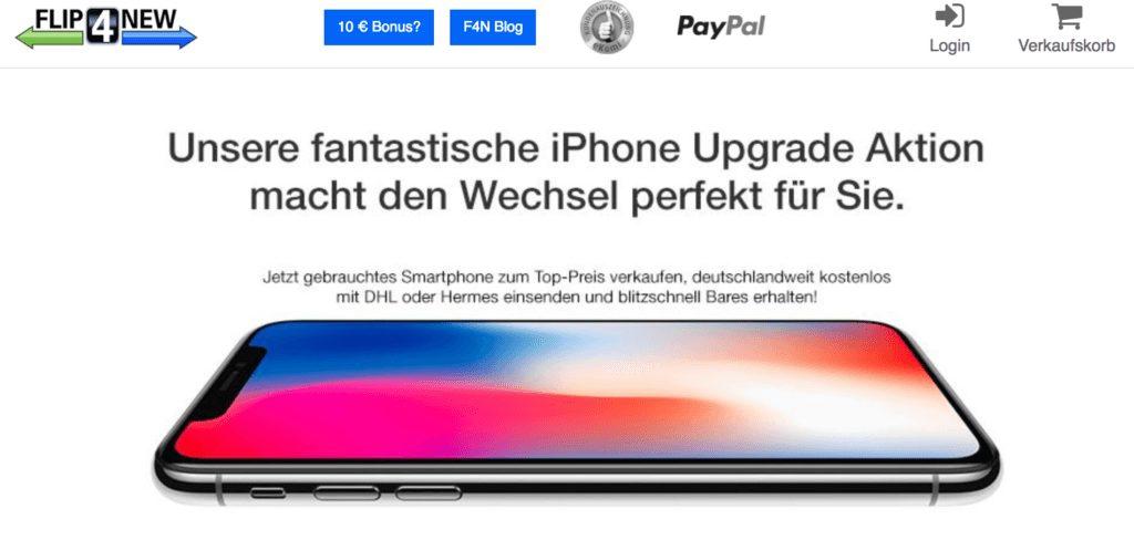 iPhone Upgrade Aktion - FLIP4NEW