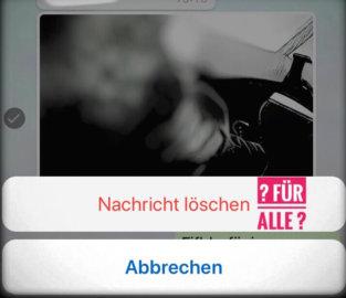 WhatsApp Nachrichten Löschen für alle
