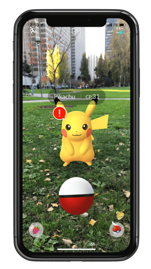 Apple AR+ Pokemon Go